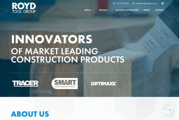 ROYD Tool Group website design – home page