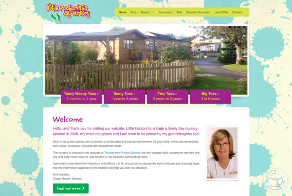 Little Footprints Day Nursery website