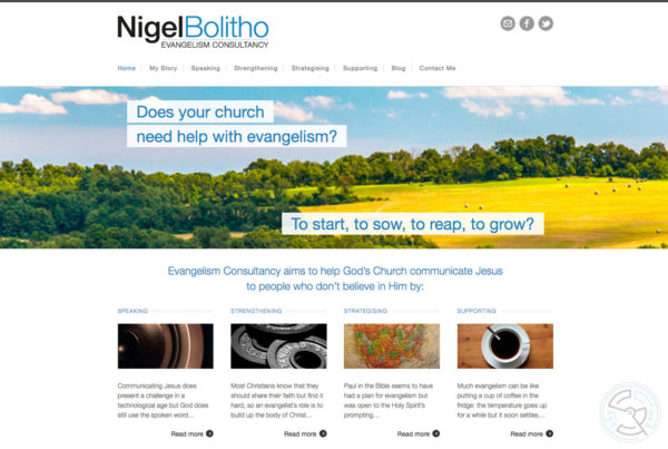 Nigel Bolitho, Evangelism Consultancy – Website
