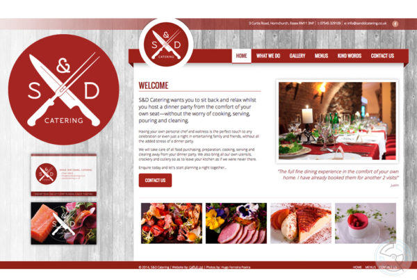 S&D Catering – branding and website design