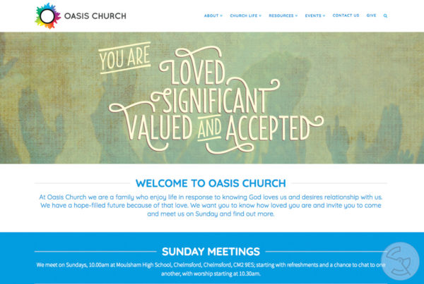 Oasis Church website
