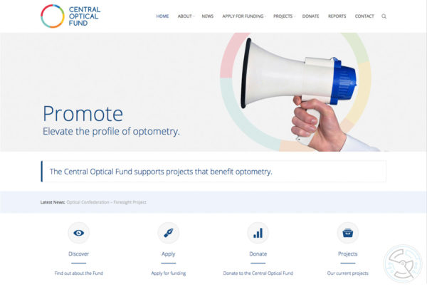 Central Optical Fund website