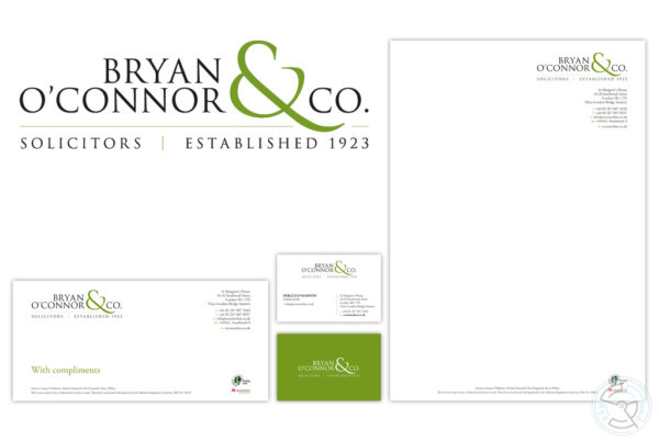 Bryan O'Connor & Co logo and stationary design