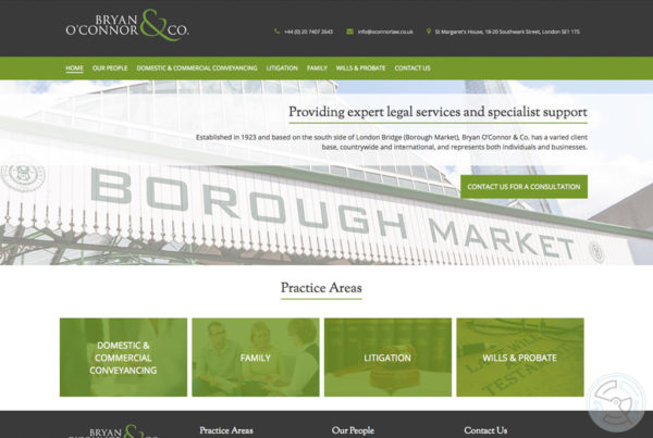 Bryan O'Connor & Co website