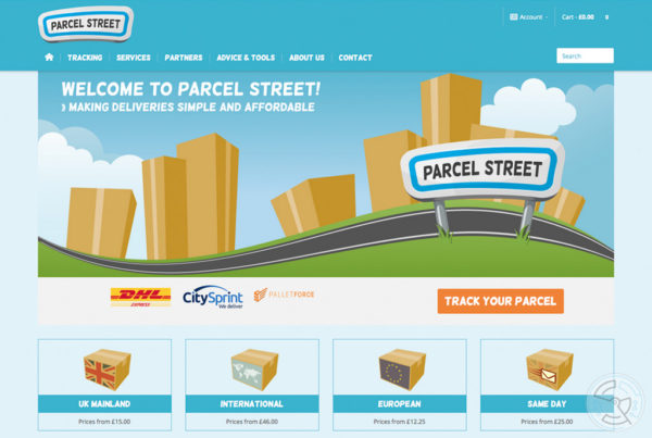 Parcel Street website and branding