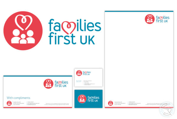 Families First logo and stationary design