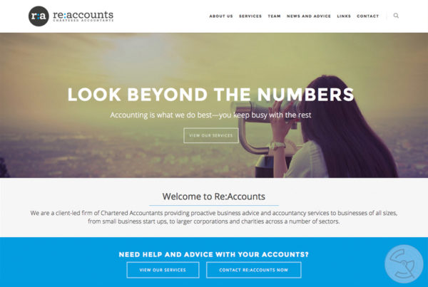 Re:Accounts Website Design