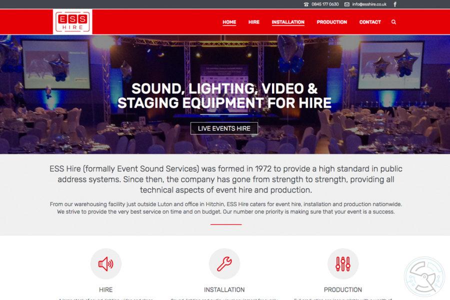 ESS Hire website