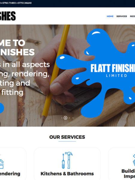 Flatt Finishes website