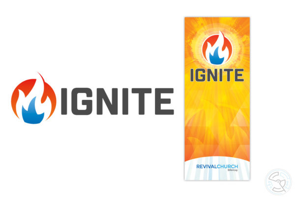 Ignite logo and banner design