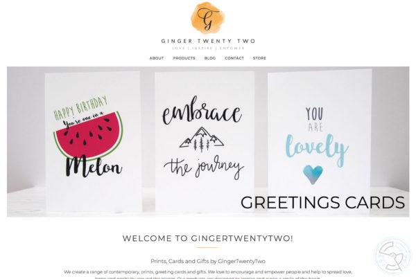 Ginger Twenty Two – Website