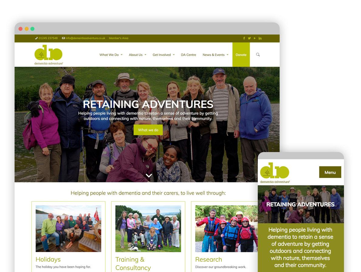 Dementia Adventure website